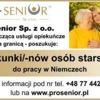 Praca w opiece nad osobami starszymi w Niemczech